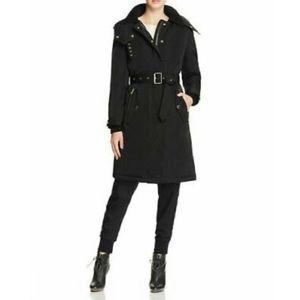 Burberry Hunbridge Hooded Down Coat in Black